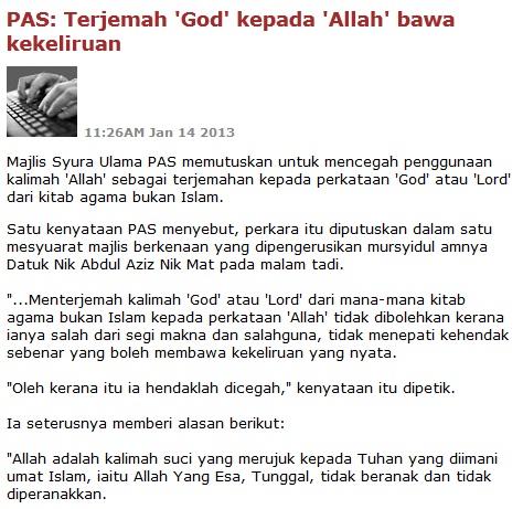 Berita ini juga tercatat di MalaysiaKini selepas artikel saya dikeluarkan dlaam blog