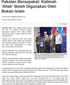 PR - Kalimah Allah untuk bukan Islam