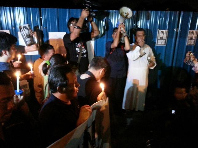 Bapa Adam Adli berucap di Candlelight Vigil