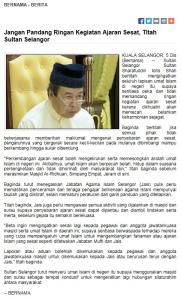 Titah Sultan Selangor